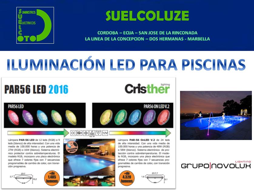 Iluminaci n led para piscinas suelco distribuci n de for Iluminacion led para piscinas