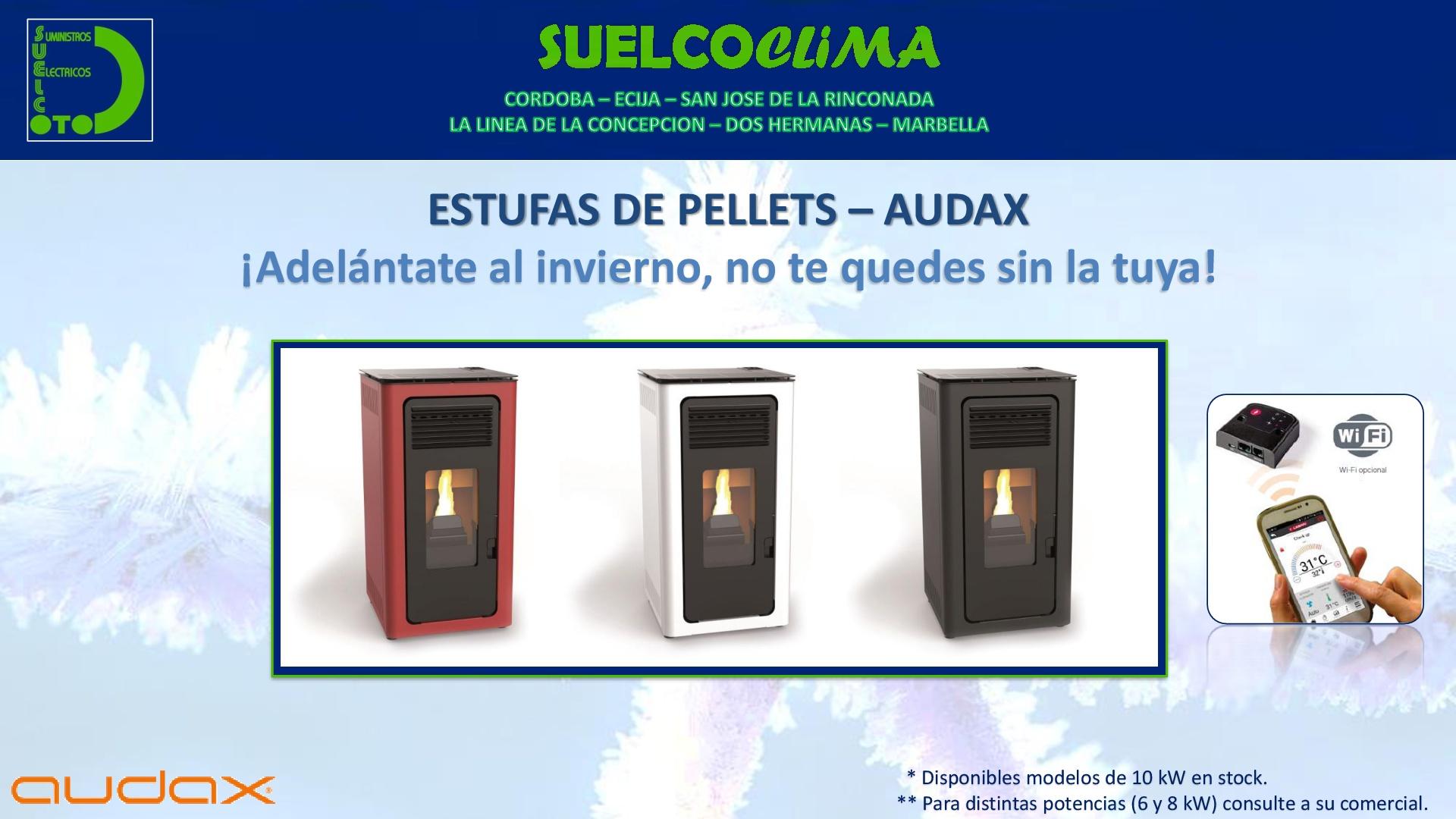 Estufas de Pellets de AUDAX